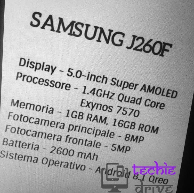 Especificaciones Samsung Android Go