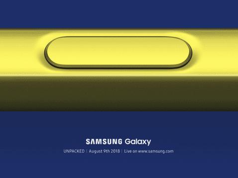 Galaxy Note 9 presentacion
