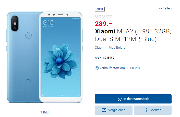 Xiaomi Mi A2 precio