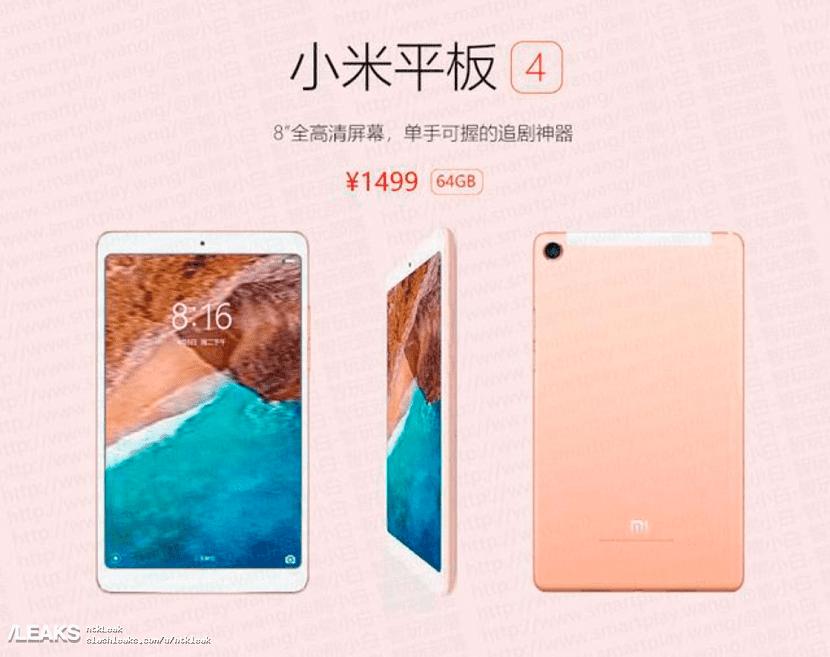 Xiaomi Mi Pad 4 precio