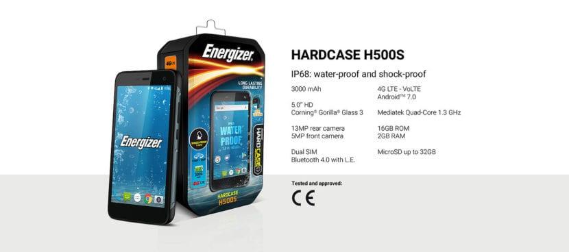 Especificaciones del Hardcase H500S
