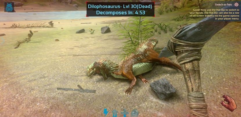 Dinosaurio muerto