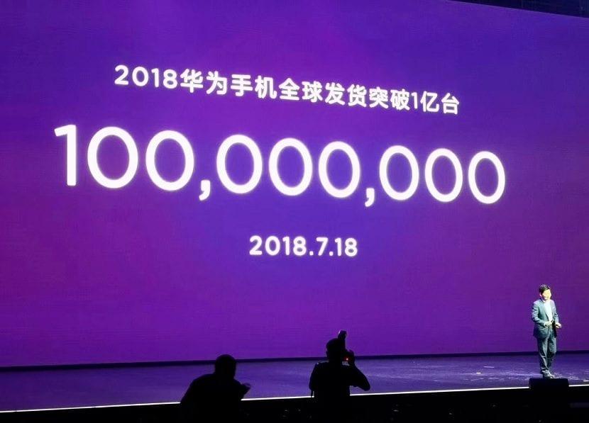 Huawei 100 millones ventas