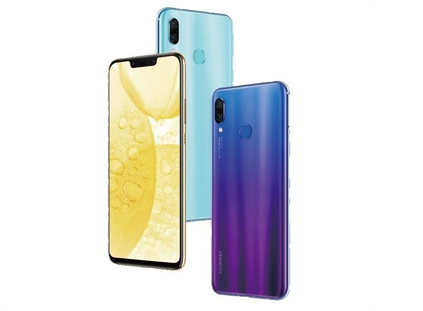 Huawei Nova tres Colores