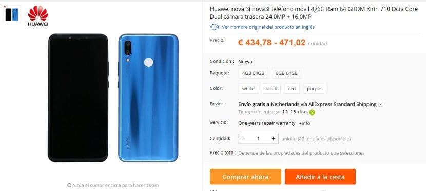 Huawei Nova 3i Aliexpress