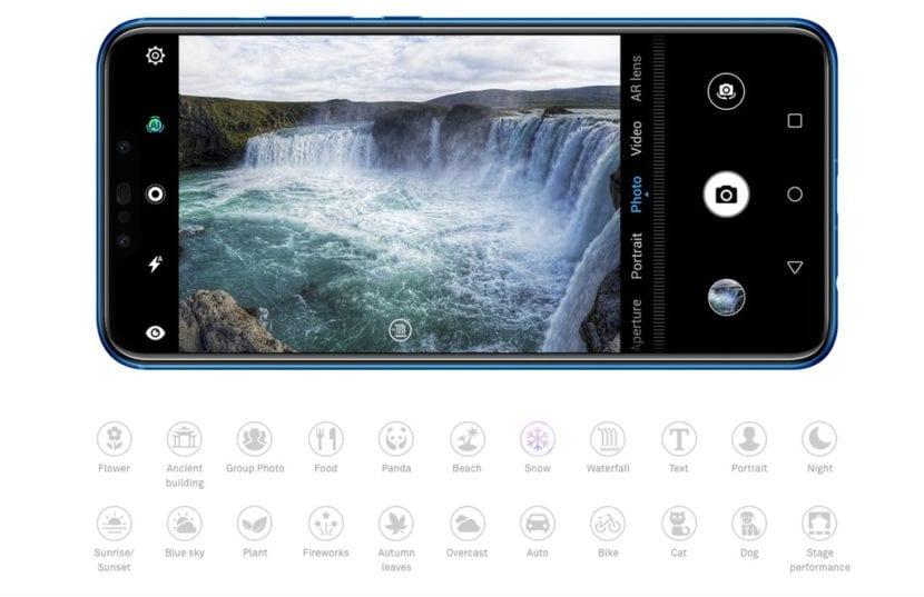 Huawei P Smart + con muchas funciones para la cámara