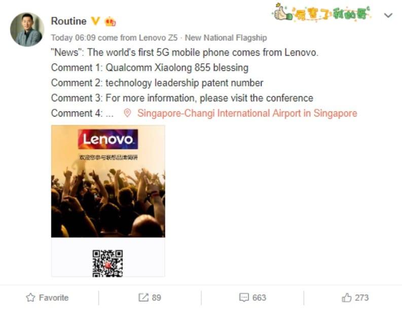 Lenovo nos traerá el primer móvil con SD855 y 5G