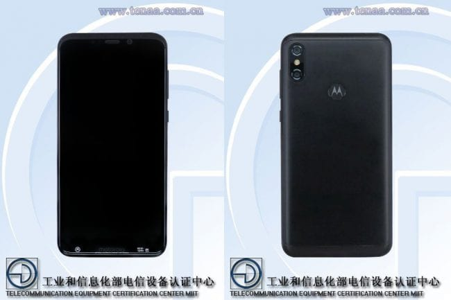 Motorola One Power en TENAA