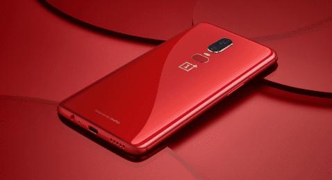 OnePlus 6 rojo lava