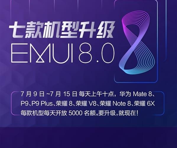 EMUI 8.0 para varios modelos Huawei