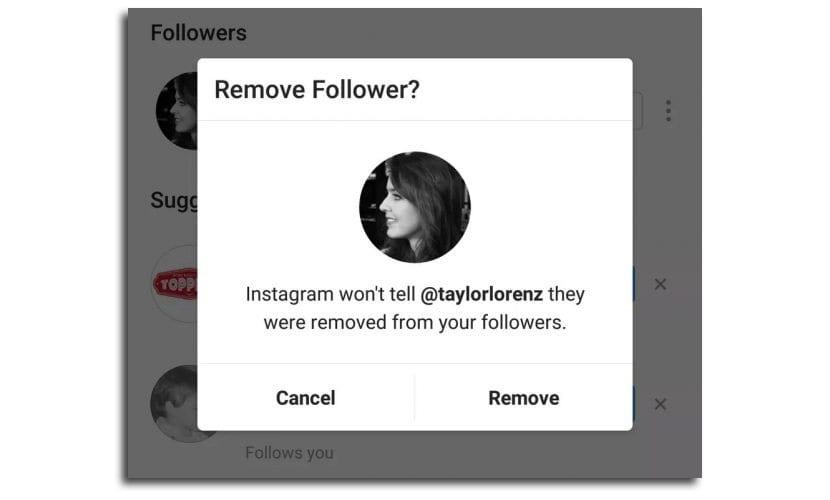 Eliminar seguidores