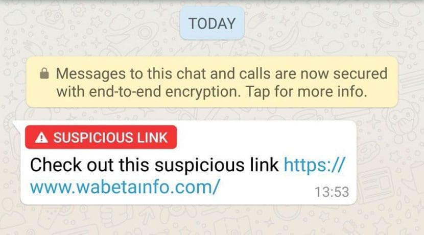 WhatsApp sospechoso
