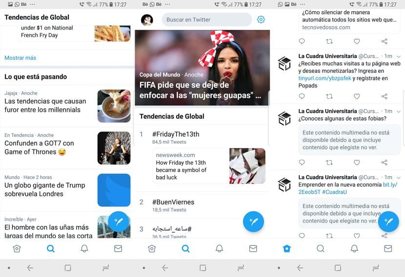 Twitter barra