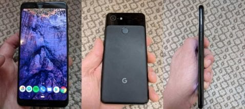 Google Pixel 3 diseño