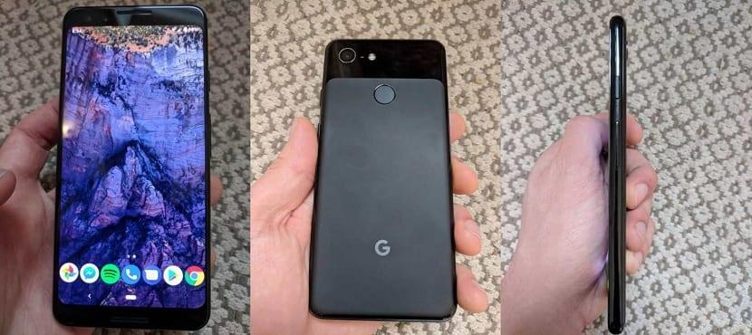 Google Pixel tres diseño