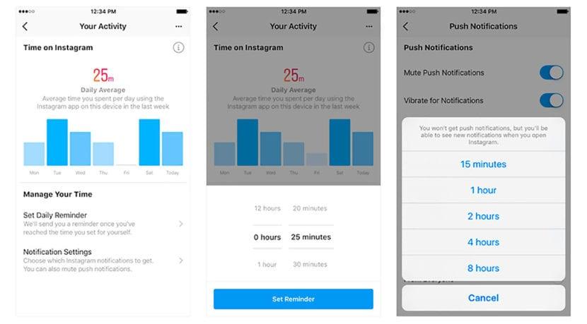 Medidor actividad en Instagram