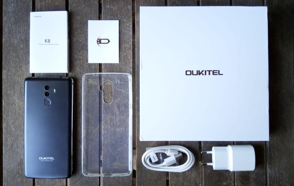 OUKITEL K8 contenido de la caja