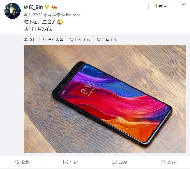 Xiaomi Mi Mix 3 Weibo