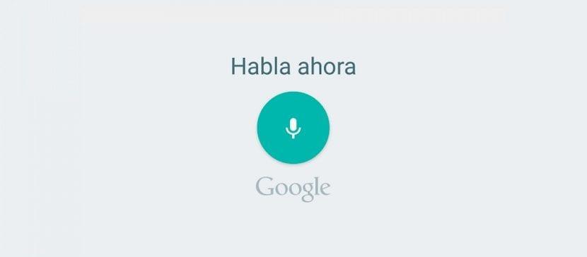 Dictado por voz Google