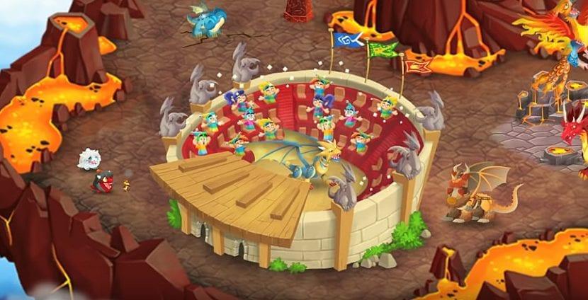Arenas del juego de Dragon City