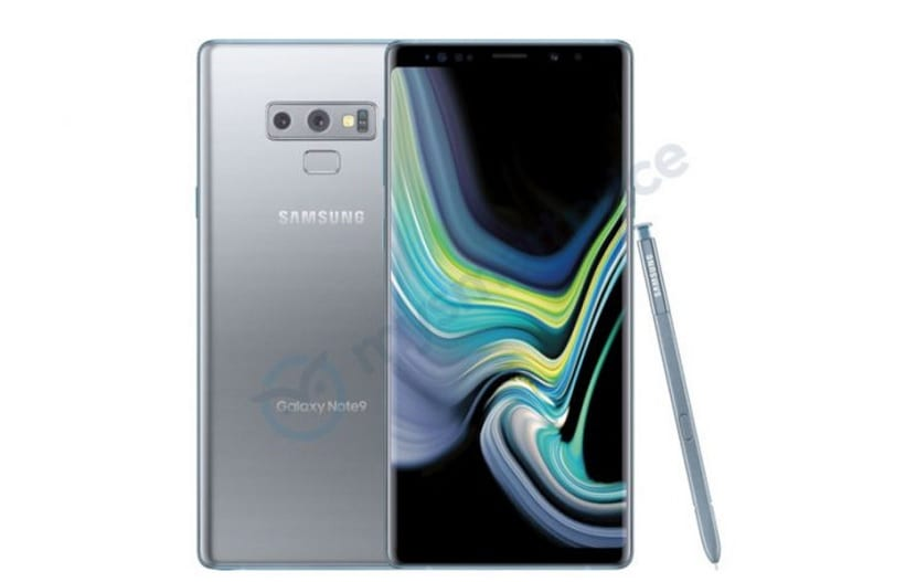 Galaxy Note 9 plateado
