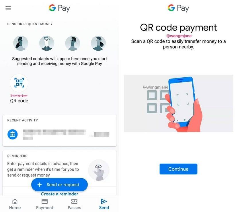 Google Pay codigo QR