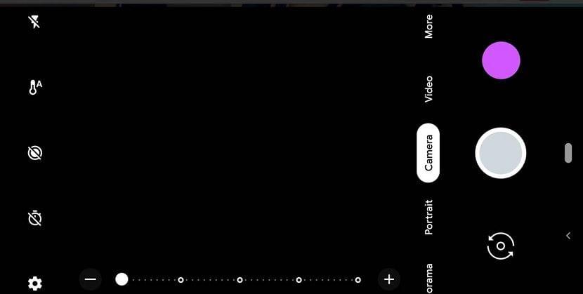 Interfaz camara Pixel 3 XL