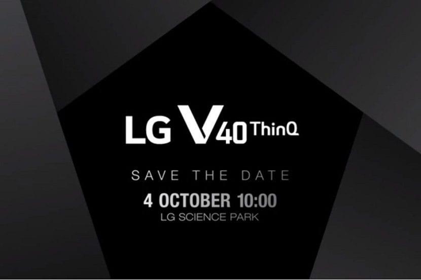 LG V40 presentacion
