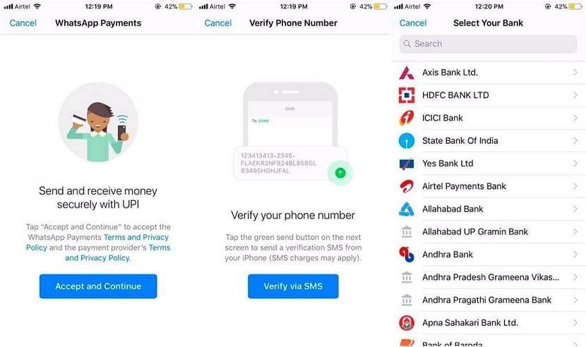 WhatsApp pagos India