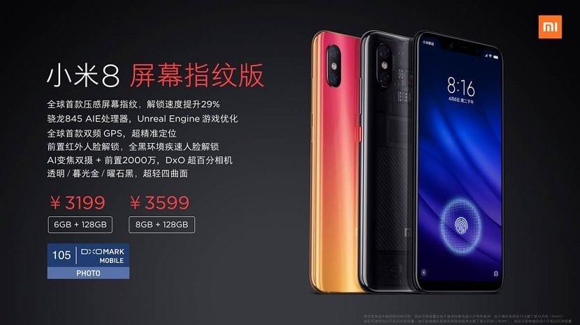 Xiaomi Mi 8 Pro precios