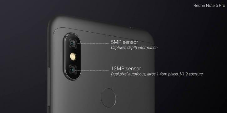 Xiaomi Redmi Note 6 Pro camaras