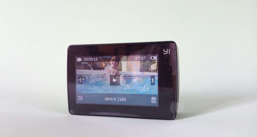 YI 4K pantalla