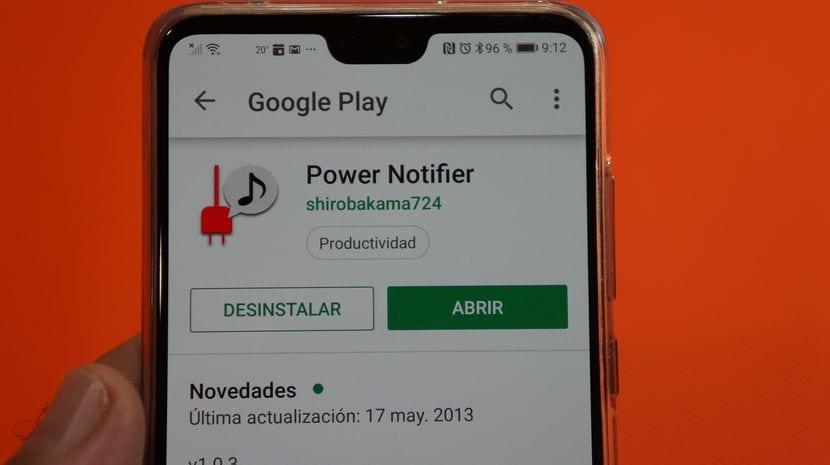 Alerta Android no carga, cable desconectado