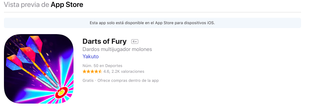 Descargar Darts of Fury gratis para iOS