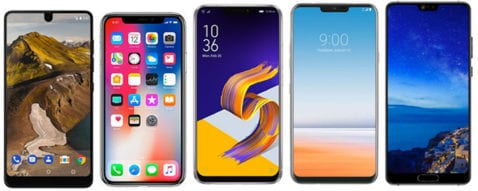 smartphones con notch