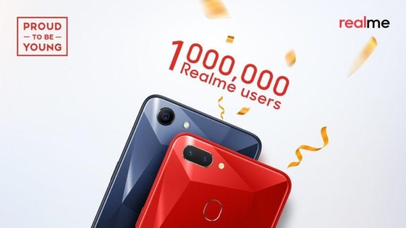 Realme ha vendido un millón de teléfonos