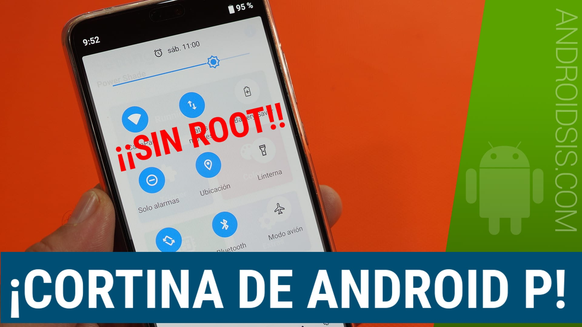 Telón notificaciones Android P