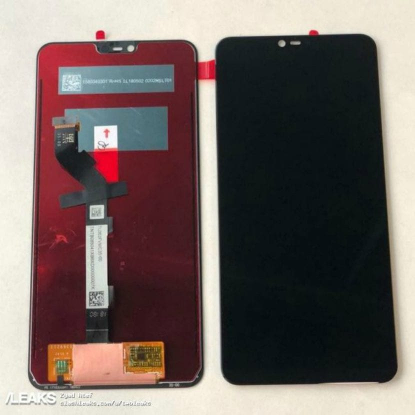 Pantalla filtrada del Xiaomi Redmi Note 6