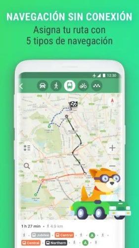 MAPS.ME - Mapas offline con navegador y dirección