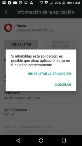 Cómo innhabilitar aplicaciones en Android