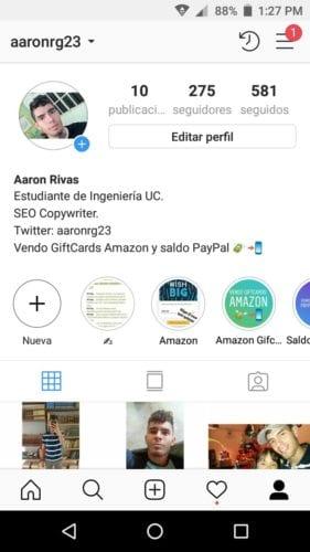 Cómo activar o desactivar el Estado de actividad en Instagram