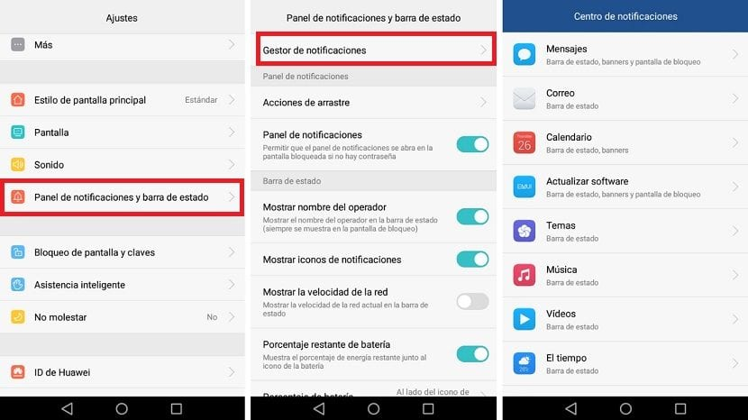 Gestionar notificaciones Android