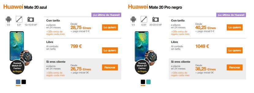 Huawei Mate 20 Orange