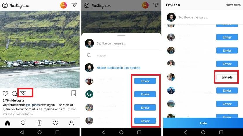 Mensaje privado Instagram