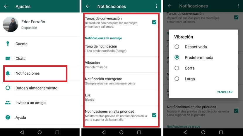 Notificaciones WhatsApp