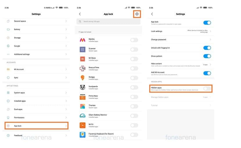 Ocultar aplicaciones Xiaomi MIUI