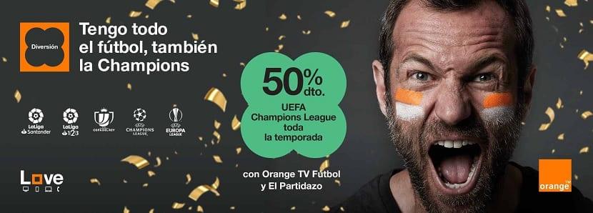 Orange Champions league descuento