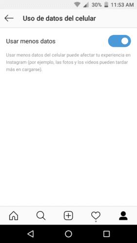 Cómo activar el ahorro de datos en Instagram