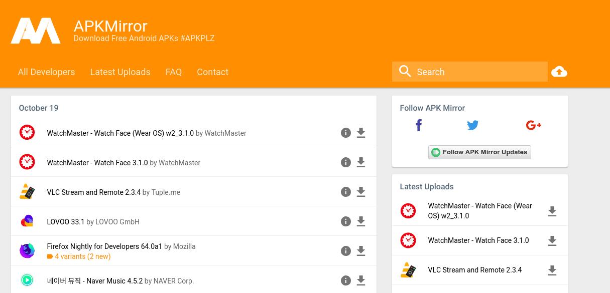 APK Mirror alternativa al Play Store de Google