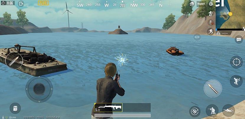 Disparo al agua